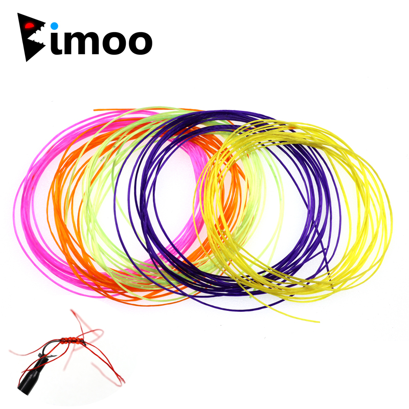Bimoo 4M Micro Flex Worm Elastic Floss Line forTying Worm Flies Streamer Fly Legs Nymph Body Buzzer Cheeks Flexi Worm Flies Etc. line art