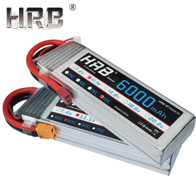 HRB 6000mah Lipo Battery 3S 11 1V 4S 14 8V 50C 6S 22 2V RC Parts