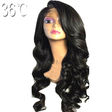 36C Body Wave Glueless Lace Front Human Hair Wigs Remy Hair Brazilian Side Part Wig With Natural Hairline Baby Hair 150% Density