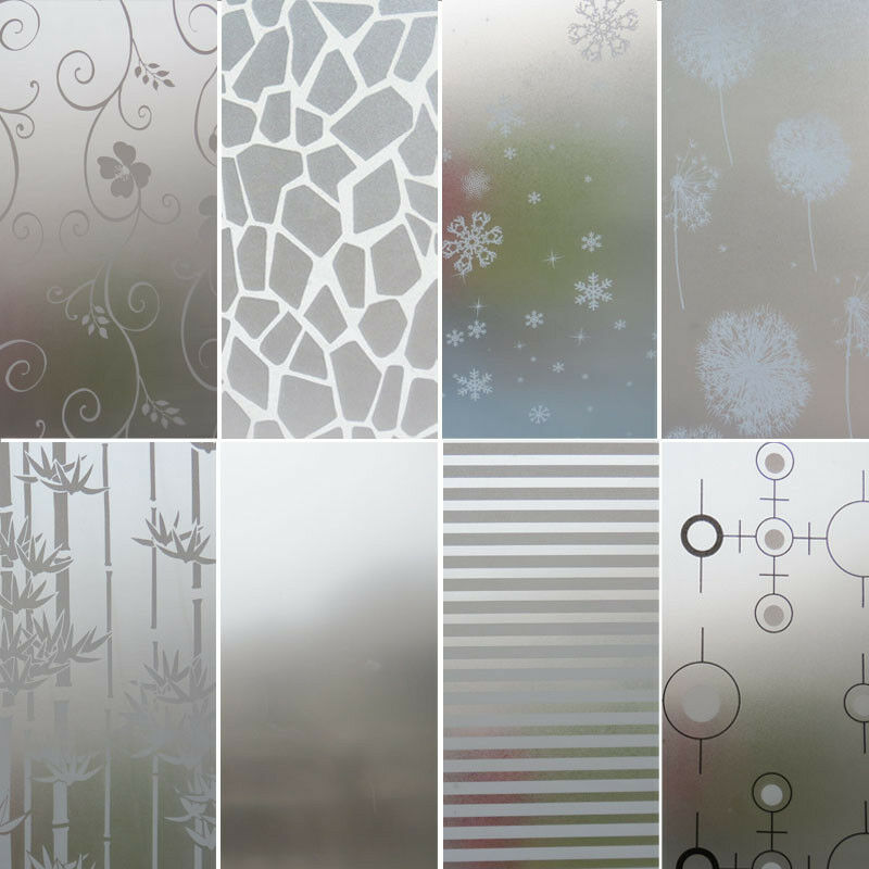 Privacy Bedroom Bathroom Home Glass Window Door Glass Decor Frosted Window Film Static Cling Frosting Sticker
