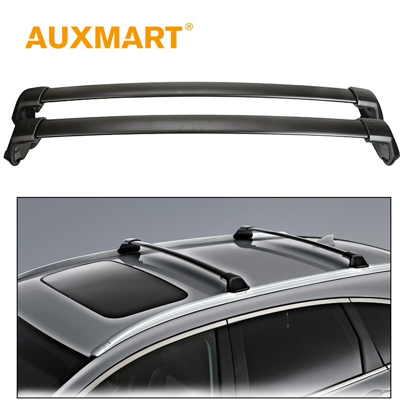 Auxmart <font><b>Car</b></font> Roof Rack Cross Bar for Honda CRV 2012~2016 Roof Rails 10.5cm Load Cargo Luggage Carriers Baggage Bike 60kg/132LBS