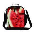 Personalized fruit watermelons 3D print lunch bags for girls school,stylish kids small insulated lunch cooler bags cute meal bag