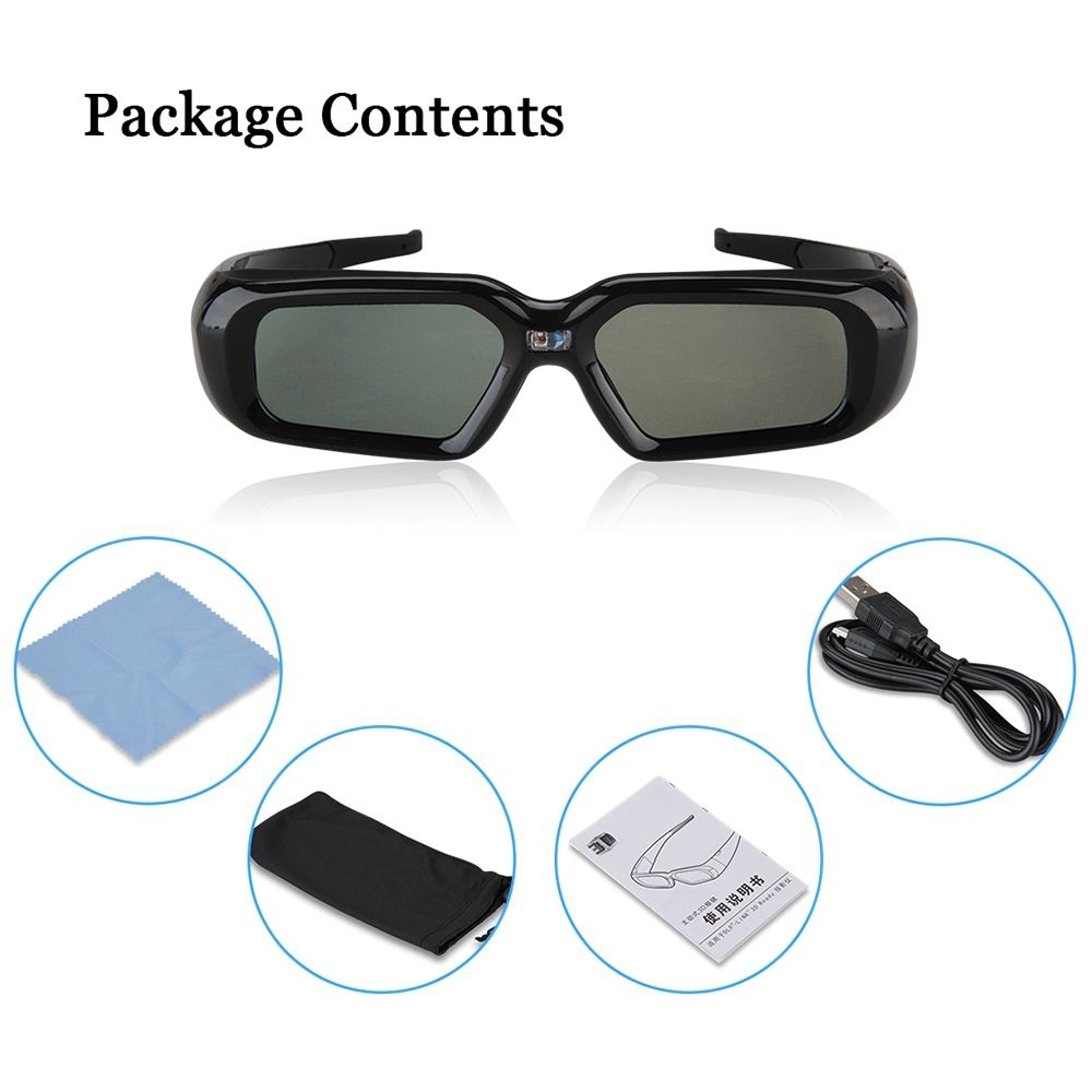 T Gtexnik 3D Active Glasses Shutter DLP link font b Virtual b font font b Reality