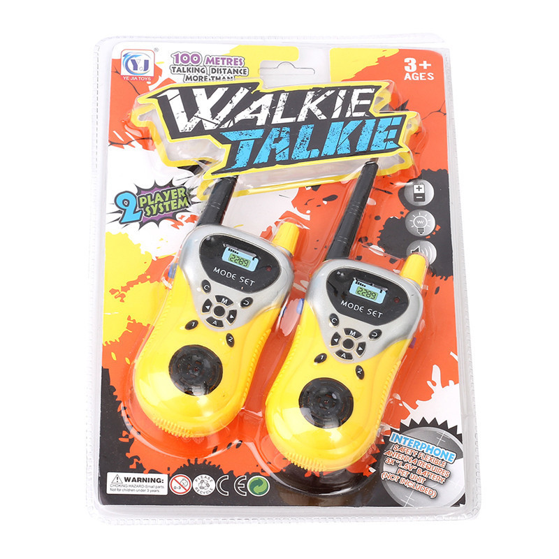 1Pair Handheld Toy Walkie Talkie Children Espia Game Interactive Toy Kid Cute Kid Radio Relogio Interphone Juguet Para Los Ni Os