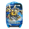 18 inch spinner trolley ABS+PC password Bumblebee or Optimus Prime patterns suitcase for children