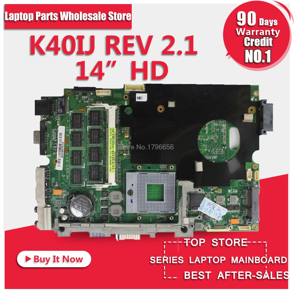 Wholesale K50IJ K40IJ motherboard GL40 chipset 2G onboard memory for ASUS laptop,Full tested