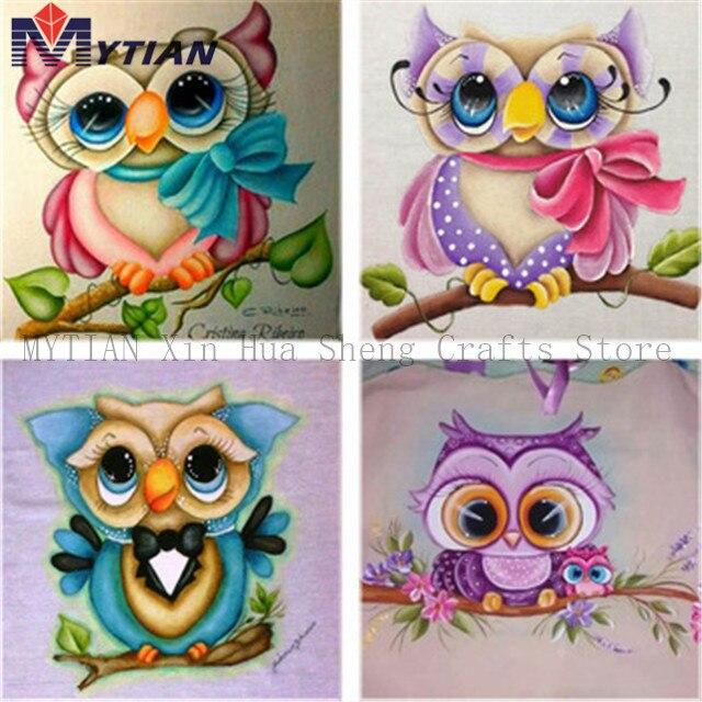 Owl DIY 5D Embroidery Diamond Sticker Cross Stitch Painting Home Dekor NEU