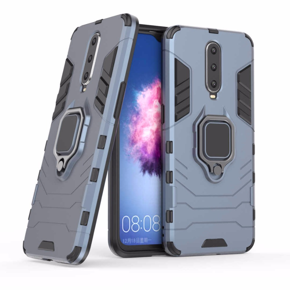 Armor Phone Case For OPPO R17 R15 Pro R11 R9 R11S R9S Plus K1 R15X F9 AX7 A5 A3S A39 Ring Car Holder Bracket TPU Back Case Cover image