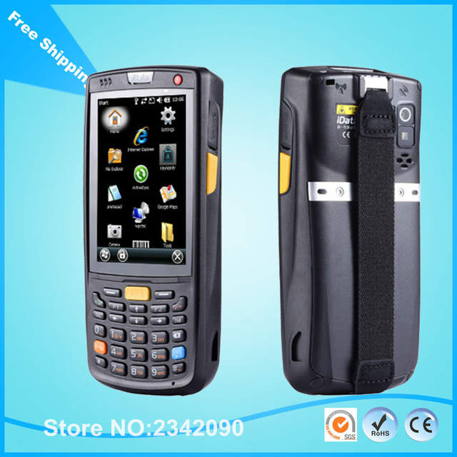 3 5 Inch Rugged Handheld Pda Windows Mobile 6 Gps Wifi 1d 2d Laser Barcode Scanner