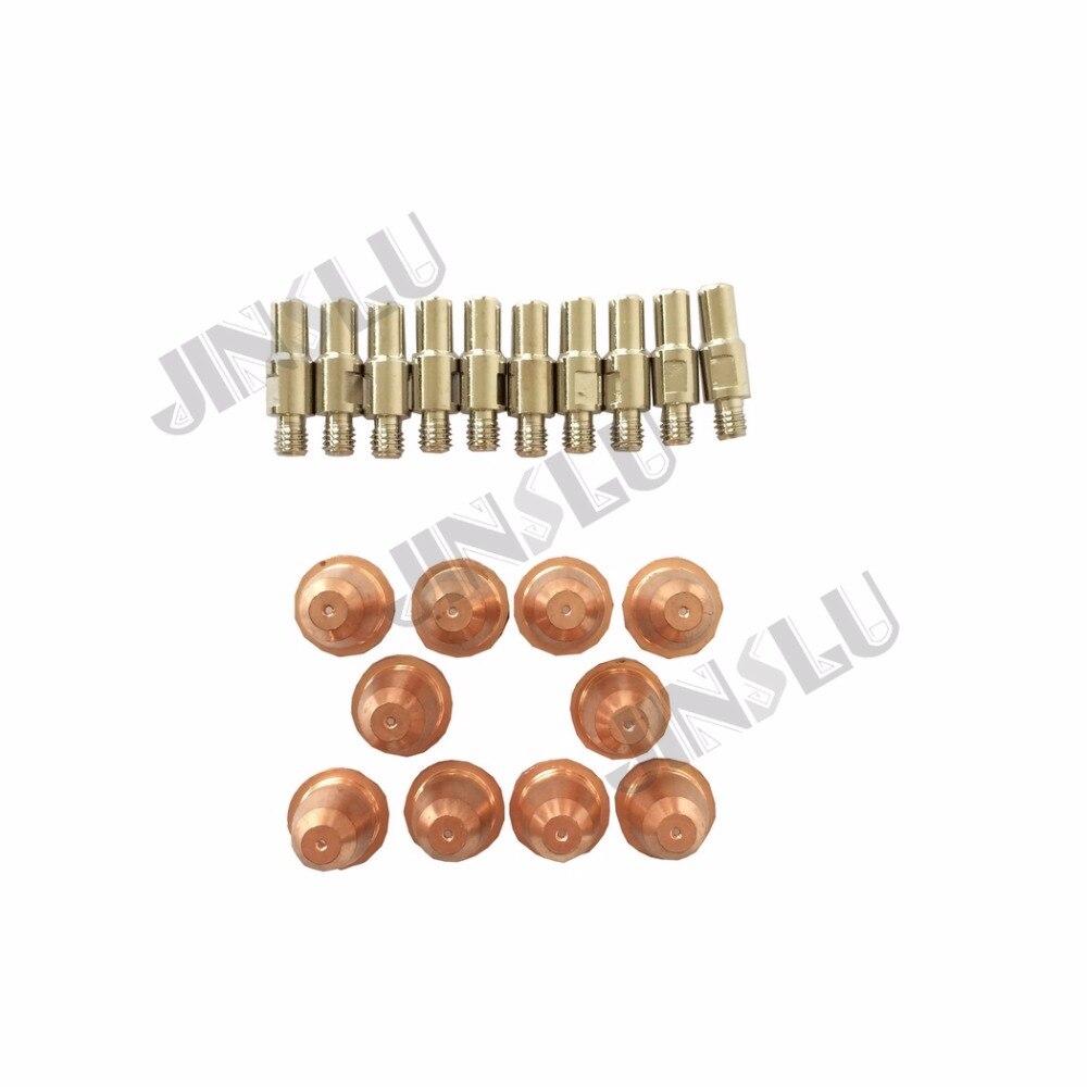 S45 Trafimet Plasma Cutting Torch Consumables Parts Tip PD0116-08 & Electrode PR0110 20PCS