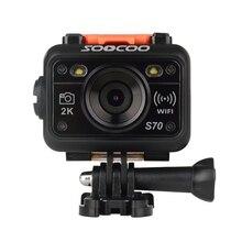 Оригинал SOOCOO S70 WiFi 2 К Спорт Действий Камеры с Часами Дистанционного Управления Подводные 60 М NTK96660 Видеорегистратор бесплатная корабль