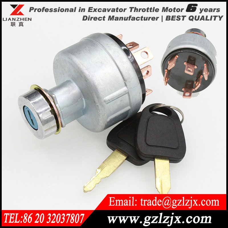 ФОТО Engine parts racing ignition switch for Kobelco excavator SK200-5 engine spare parts YN50S00029F1