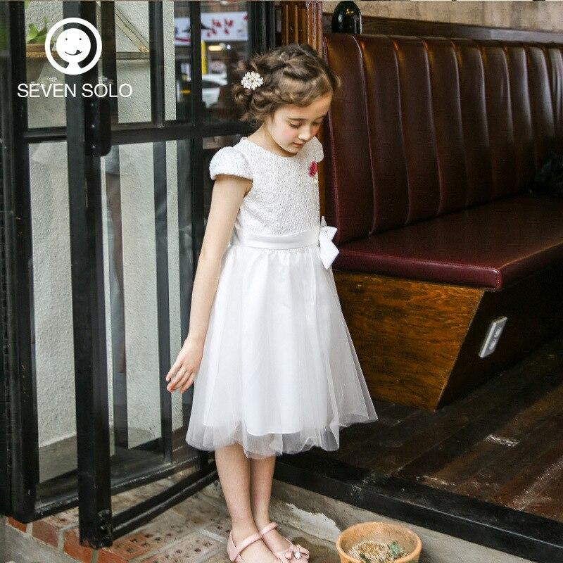 SEVEN SOLO Original Brand Girls Dress Pretty Party Dress Little Princess Short Sleeve Summer Dress A-Line Mid-Calf Dress Dancing burnett frances hodgson a little princess
