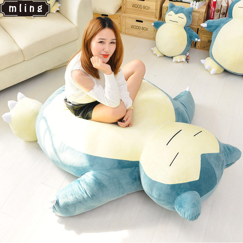 Mling 1PC 50cm Anime Giant Snorlax Plush Kabigon Doll Bed Zip Cover Case Xmas Gifts