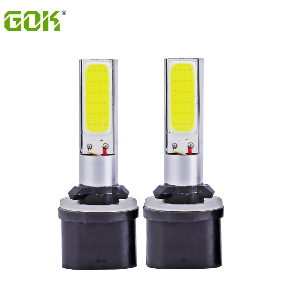все цены на 2X 880 led COB LED H27 881 Fog Lights Bulbs Super White h1 h3 t10 COB Fog Light Daytime Running Projector Bulb