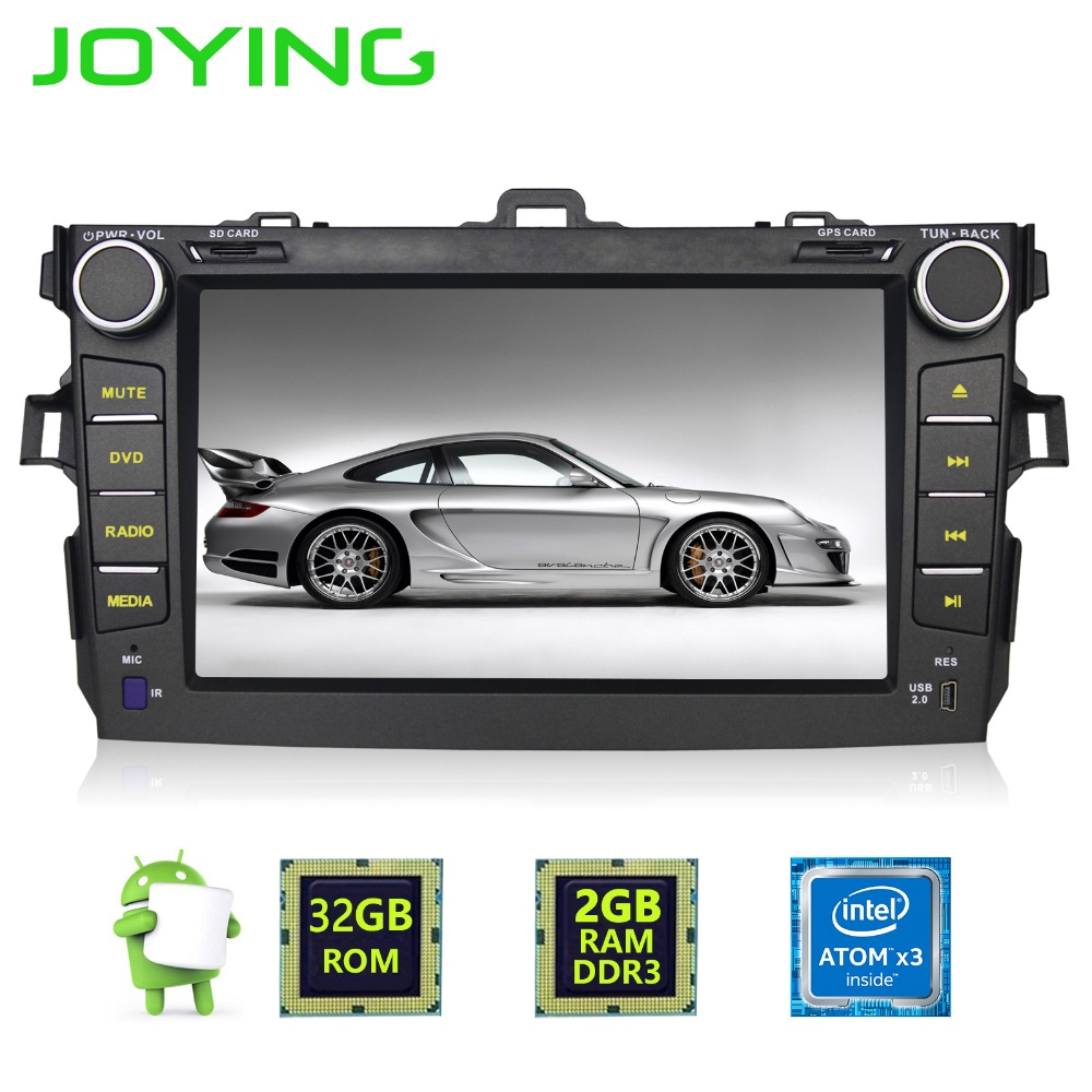 Joying Quad Core 82GB+32GB Double 2 Din Android 6.0 Head Unit For Toyota Corolla Car Radio Multimedia Player GPS Navigation