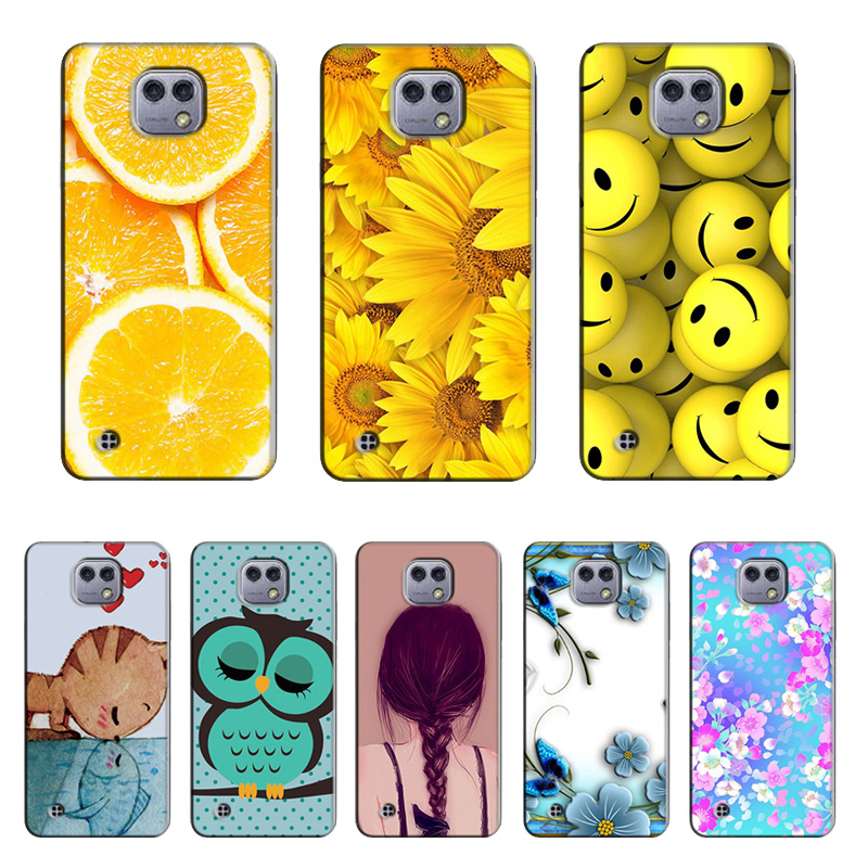 Cute Cat Owl Deer Animal Phone Case for LG X Cam K580 K580DS Soft TPU Silicone Back Cover Capa Coque for LG X Cam