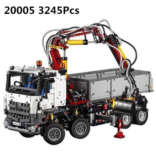 Лепин 20005 техника 42043 Mercedes-Benz Arocs 3245 шт. Модель Строительный блок Кирпичи Детские игрушки DIY развивающие рождественские подарки