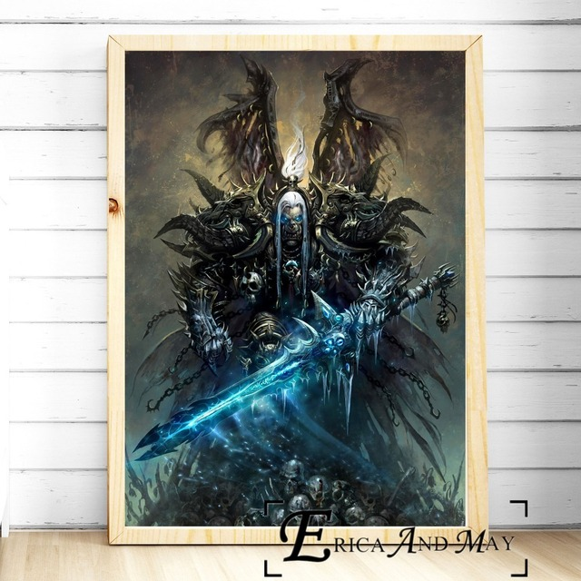 Lich King WOW Game Artwork Vintage Posters and Prints Wall art Decorative Picture Canvas Painting For Living Room Home Decor  1