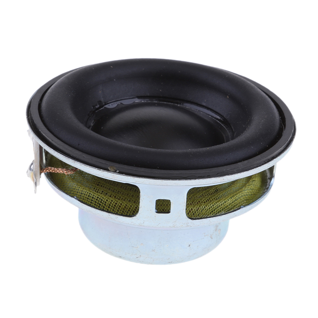 40mm 4Ohm 5W Full Range Audio Speaker Round Loudspeaker 16 Coil Rubber Edge Speaker Replacement Accessories Rubber Edge Design