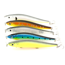 Queshark 1PCS Laser Minnow Fishing Lure Sea Bass Bait 14CM 22G Pesca Hooks Fish Wobbler Tackle Artificial Japan Hard Bait