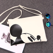 2018 Women Messenger Bags Minnie Mickey Bag Leather Handbags
