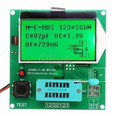 Numérique LCD GM328A Transistor Tester Capacité LCR ESR Mètre MOS/PNP/NPN V2PO