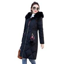 Winter Fashion Female Coat Long Section Parkas Self-cultivation Clothing Large Size Cotton Collar Thick Warm Women's Jacket Tide недорого