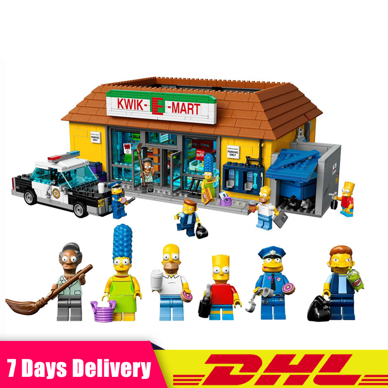 LEPIN 16004 2232Pcs The Simpsons The Kwik-E-Mart Model Building Blocks Set Compatible LegoINGlys 71016 Toys for Children Gifts