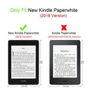 Image 5 - Gligle חכם נרתיק עור Paperwhite 4 (2018) e קורא כיסוי לניו קינדל Paperwhite 4 מקרה