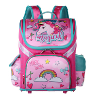 Primary Girl Backpack School 2019 New Children Unicorn Floral Kids Backpack Zipper Orthopedic School Bag For Girls