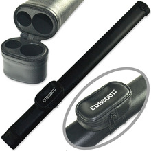 FreeShipping Cuesoul All Black Two Tone Pool Cue Tube Case Billiard Snooker Canister