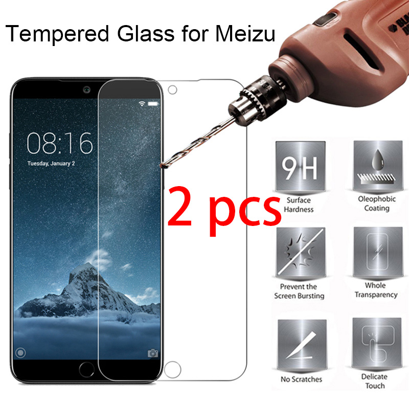 2pcs! Screen Protector For Meizu M6 M5 M3 M2 Note Tempered Glass 9H HD Toughed Protective Glass On Meizu M6S M5S M3S
