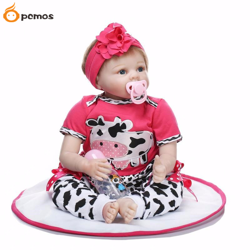 55cm/22 Realistic Girl Newborn Baby Lifelike Soft Touch Reborn Doll Vinyl Baby Toys Handmade Holiday Gift Collection 6062444 disney princess brass key 2003 holiday collection porcelain doll snow white