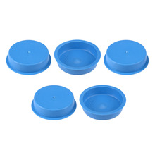 Uxcell Blue PE 5pcs 45x20 50x20 56x15 65x18 85x18mm Round Head Threaded Hole Waterproof Stoppers Hold Plugs Tapered Caps