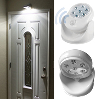 Motion Activated Cordless Sensor LED Night Light Indoor Outdoor Garden Wall Patio