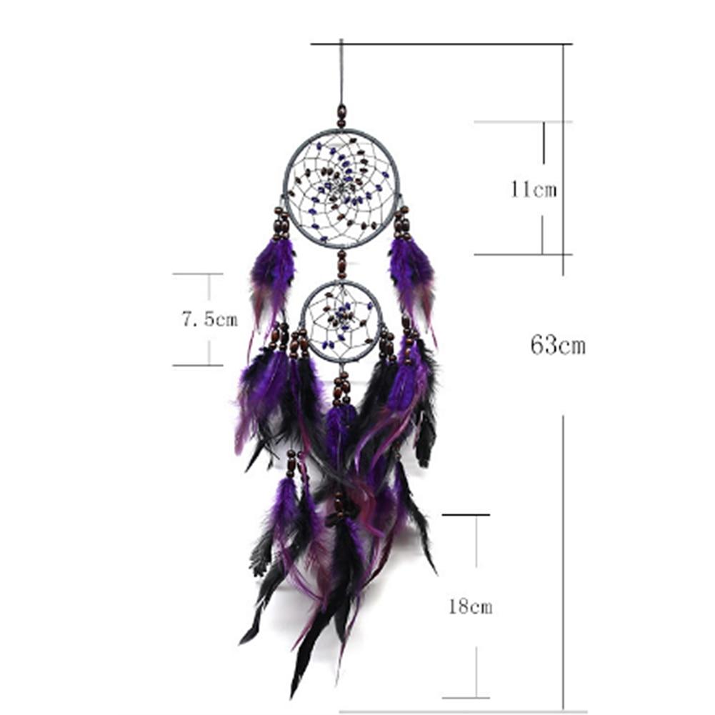 Фиолетовый Ловец снов перо ремесла колокольчики ручной работы индийская сеть Ловца снов для настенных подвесных автомобилей домашний декор