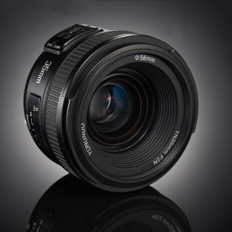 Objectif de mise au point automatique grand Angle fixe/Prime PULUZ YONGNUO YN35MM F2N 1:2 AF/MF pour appareils photo reflex numériques Nikon