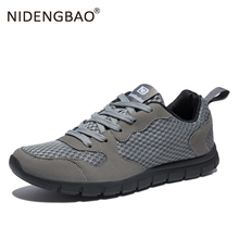 Nidengbao Men Running Shoes Plug Size 39-50 Air Mesh Breathable Lightweight Outdoor Sport For Male Walking Sneakers
