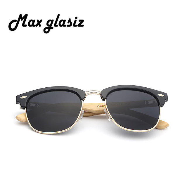 Bamboo wooden sunglasses wood for women men vintage retro