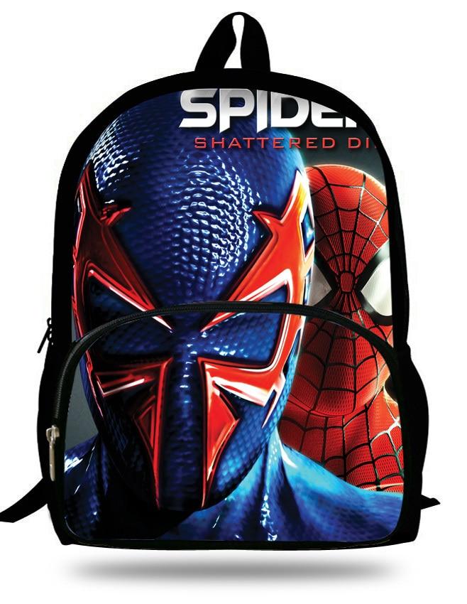 16 inch Spiderman Bag Children School Bag For Teenage Boys Cartoon ...