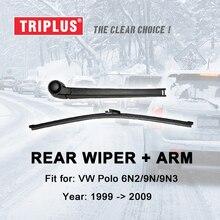 Rear Wiper Arm with Blade for VW Polo MK4 MK5 Hatchback 6N2 9N 9N3 (1999-2009) 1pc 13 330mm,Rear & Blades