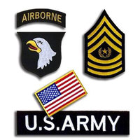 1Set 5pcs Us 101st Airborne Division Patch 3d Suit Embroidered Cloth Patch Stickers Military Badges Armband