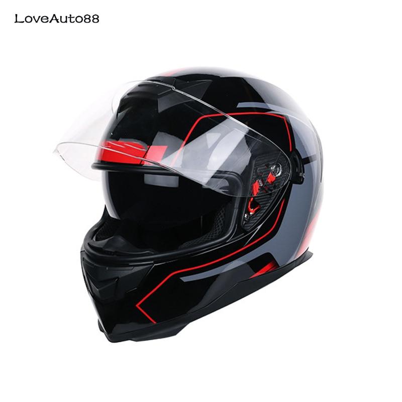 Motorcycle Helmet Full Face ABS Motorbike Helmet downhill racing mountain Safe Racing helmet Motorcycle Helmet For Woman/Man-in Helmets from Automobiles & Motorcycles