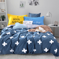 modern carton Cotton Bedding Set Duvet Cover Sets Bed Sheet Adults Kids Bedroom Sets Queen/Twin Size crown arrow Cross pattern