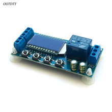 OOTDTY DC 6-30V Support Micro USB 5V LCD Display Automation Cycle Delay Timer Relay