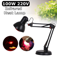 100W 220V Infrared Heat Lamp Therapy Light Therapeutic Pain Relief Health Physiotherapy Therap Massage Health Bulb Heating Light