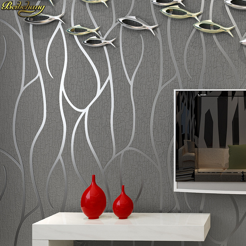 beibehang 3D Stereo Thicker Deerkin Abstract Line Wallpaper High Striped Bedroom Hotel Living Room TV Background Wall paper beibehang modern minimalist stereo 3d wallpaper modern abstract striped living room background 3d relief mural wall paper roll