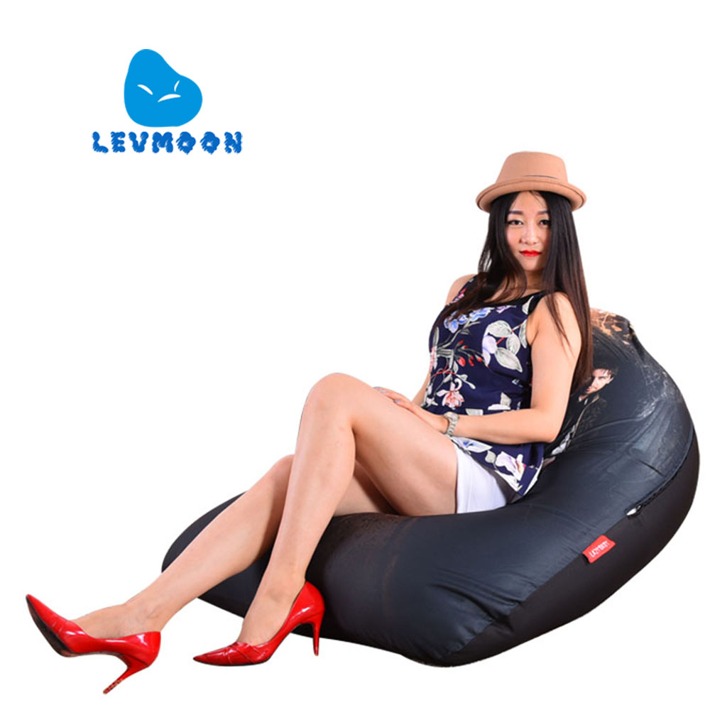 LEVMOON Beanbag Sofa Chair Wind Queen Seat Zac Comfort Bean Bag Bed Cover Without Filler Cotton Indoor Beanbag Lounge Chair