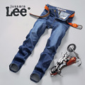 Jussara Lee 2016 Hombres de La Manera Recta Biker Jeans Para Hombre Casual Pantalones de Jean del Dril de algodón Slim Fit Pantalones Vaqueros de Los Hombres Pantalones Vaqueros 2059
